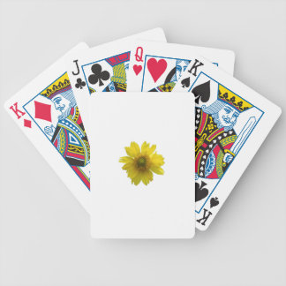 Yellow Flower Bicycle Playing Cards