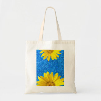 yellow flower budget tote bag