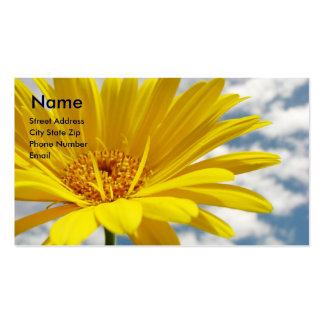 Yellow Flower Pack Of Standard Business Cards