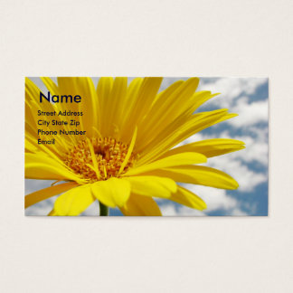 Yellow Flower Business Card