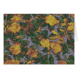 Yellow flower camouflage pattern card