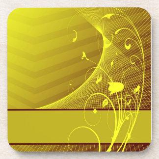 yellow flower Cork Coaster