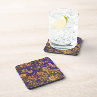 Yellow flower beverage coasters