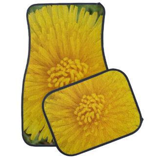 Yellow Flower Dandelion Car Floor Mats (Full Set)