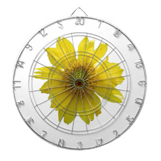 Yellow Flower Dartboard