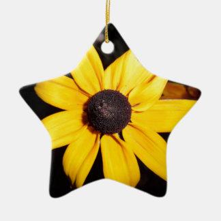 Yellow Flower Christmas Ornament