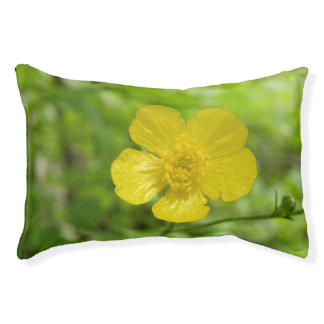Yellow Flower Dog Bed