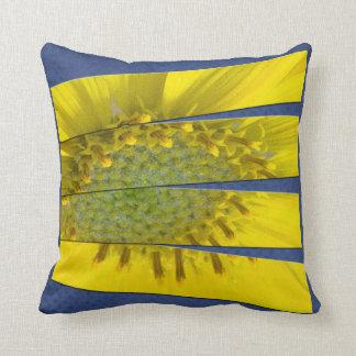 Yellow Flower Four Panel Design Cushion