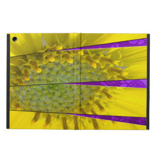 Yellow Flower Four Panel Design iPad Air Cover