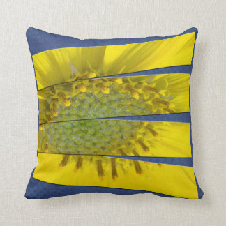 Yellow Flower Four Panel Design Throw Pillow