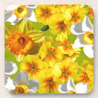Yellow Flower Graphic Beverage Coasters