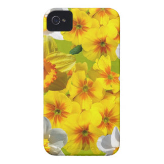 Yellow Flower Graphic iPhone 4 Cover