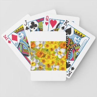 Yellow Flower Graphic Poker Deck