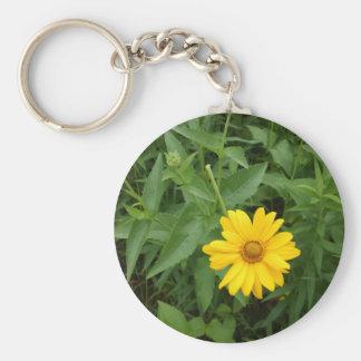 Yellow flower key ring