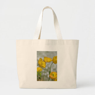 Yellow flower magic jumbo tote bag
