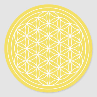 Yellow Flower of Life Sticker