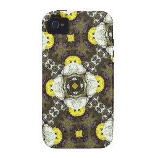 Yellow Flower Pattern Vibe iPhone 4 Cover