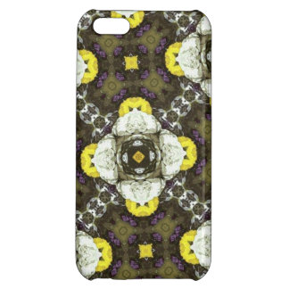 Yellow Flower Pattern iPhone 5C Cases