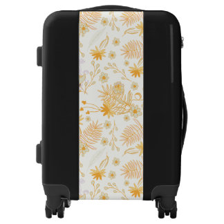Yellow Flower Pattern Luggage