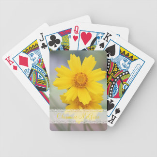 Yellow flower photograph poker deck
