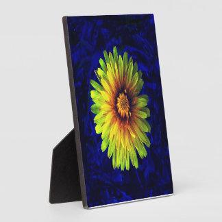 Yellow flower plaque