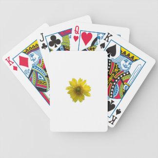 Yellow Flower Poker Deck