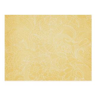 yellow flower post card
