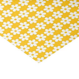 Yellow Flower  Print Glossy Tissue Paper