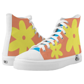 Yellow Flower Printed Shoes