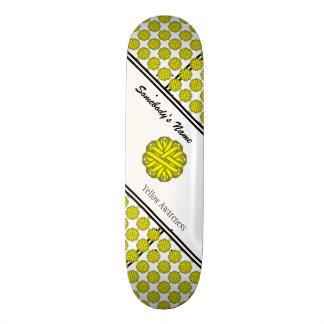 Yellow Flower Ribbon 21.3 Cm Mini Skateboard Deck