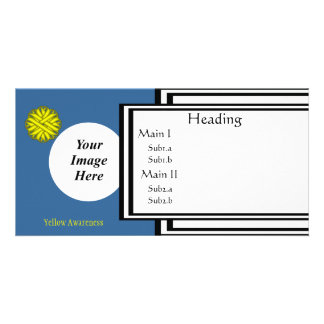 Yellow Flower Ribbon Template Photo Card Template