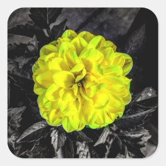 Yellow Flower Square Sticker