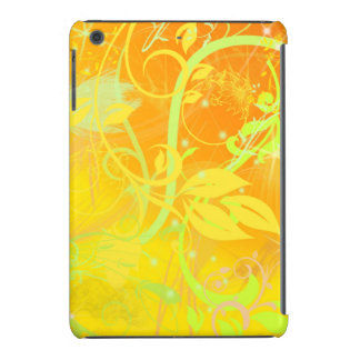 yellow flower swirl lines art iPad mini retina covers