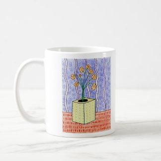 Yellow Flower Vase Art Mug