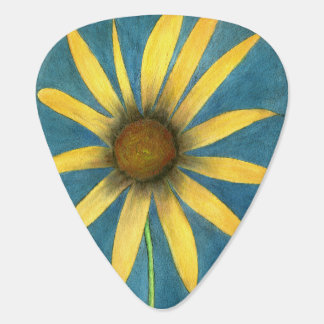 Yellow Flower with Petals Plectrum