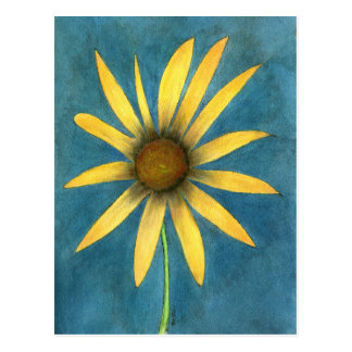 Yellow Flower with Petals Postcard