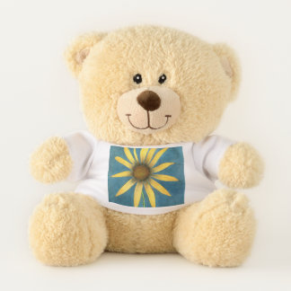 Yellow Flower with Petals Teddy Bear