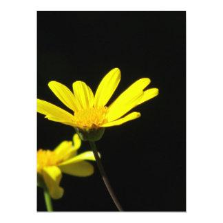 Yellow Flowers 17 Cm X 22 Cm Invitation Card