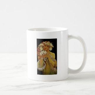Yellow Flowers 1897 Basic White Mug