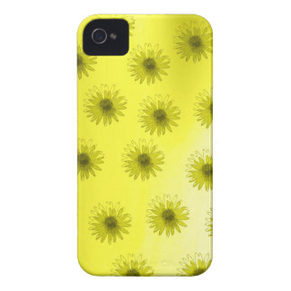Yellow Flowers Abstract iPhone 4 Cases