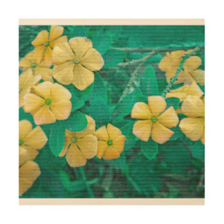 Yellow Flowers at Nature Wood Wall Decor
