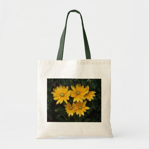 Yellow Flowers Tote Bags