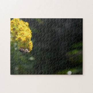 Yellow Flowers Bee Bumblebee Nature Photography Jigsaw Puzzle