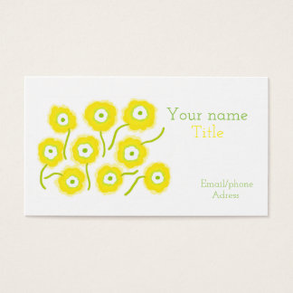 Yellow flowers bussiness card by Gemma Orte