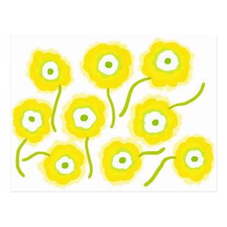 Yellow flowers by Gemma Orte Designs Postcard