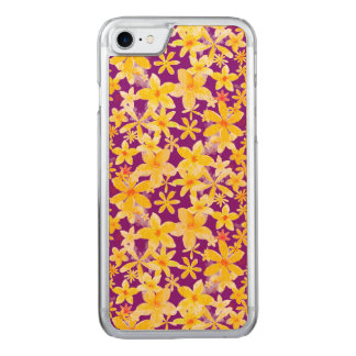 Yellow Flowers Carved iPhone 7 Case