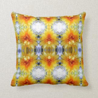 Yellow flowers & diamonds  pillow