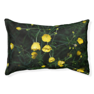 Yellow Flowers Dog Pillow