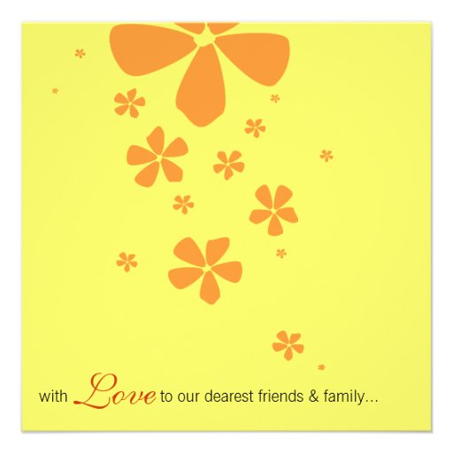 Yellow Flowers Elegant Wedding Invitation