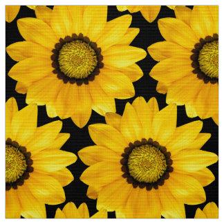 yellow flowers fabric